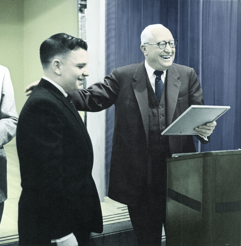 Archibald G. Bush Congratulates Junior Achiever