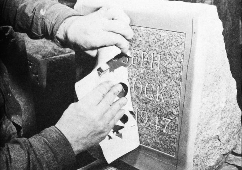 Sandblast Stencil Etching, 1947