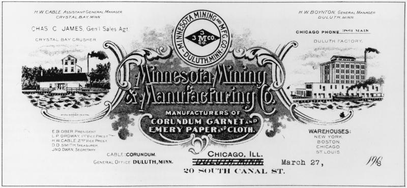 """Minnesota Mining & Manufacturing Co."" Letterhead"
